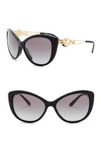 NEW VERSACE Rock Icons 57mm Cat Eye Sunglasses Black Gold VE4295 - $120.32
