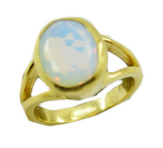 enticing Fire Opal CZ Gold Plated White Ring genuine suppiler US gift - $24.99