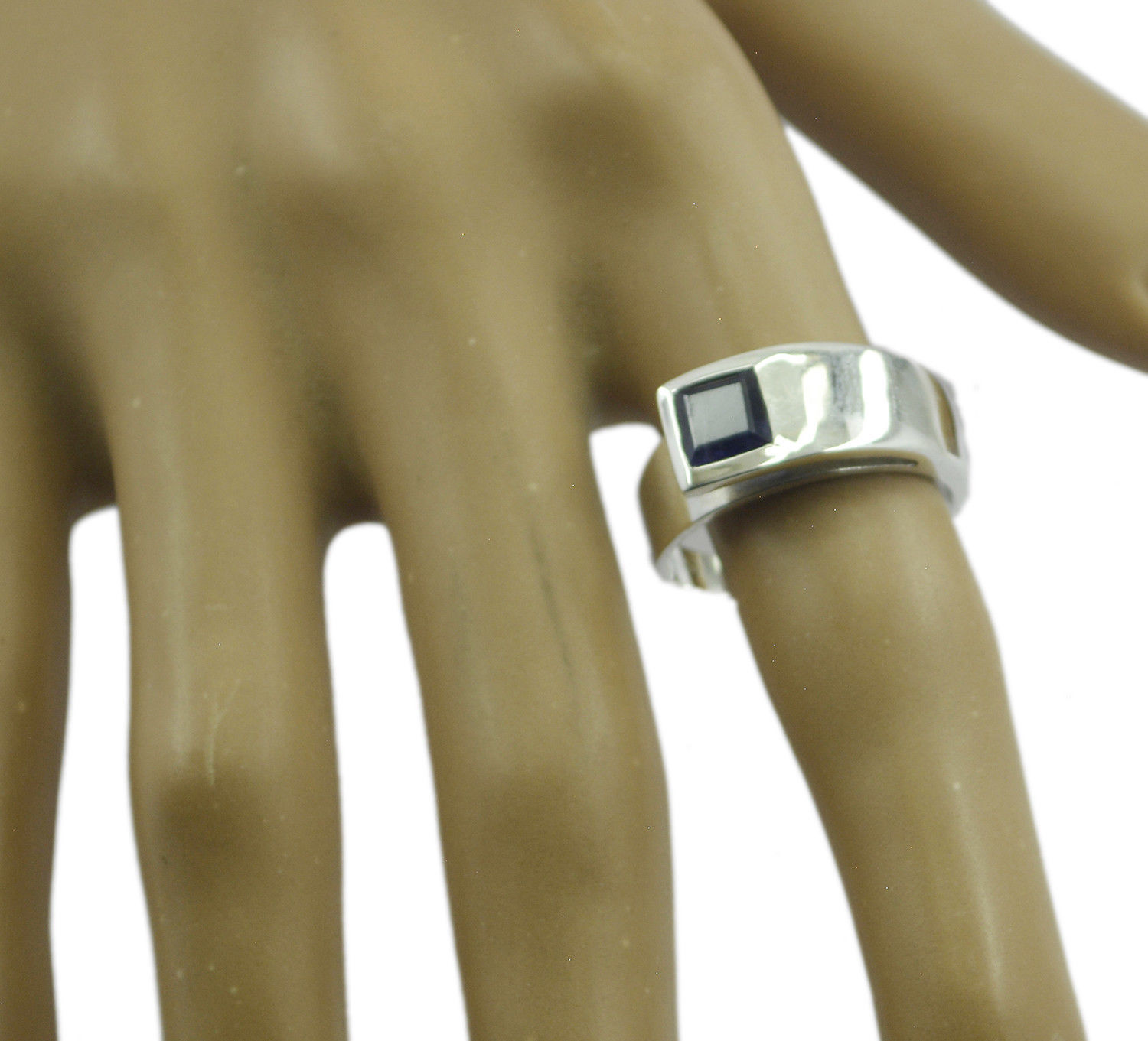 inviting Iolite 925 Sterling Silver Blue Ring genuine jewelry US