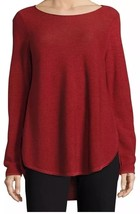 Eileen Fisher Boatneck Woolen Pullover USA Red Sz XL - $67.19