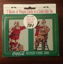 Coca Cola Christmas Santa Nostalgia Playing Cards ~ 2 Sealed Decks in Ti... - $6.89