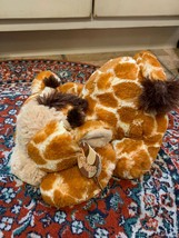 "AURORA TUSHIES GIRAFFE TREETOP PLUSH SOFT 13"" STUFFED ANIMAL 2015  16859... - $15.74"