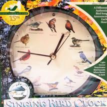 "NIB Original Singing Bird Hanging Wall Clock 12 Birdsongs Limited Ed 8"" ... - $14.81"