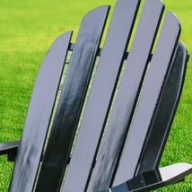 Wood Adirondack Chair Outdoor Lawn Patio Furniture Solid Wood Fan Back B... - $95.83