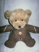 GINGERBREAD MAN BROWN TEDDY BEAR SUGARLOAF 2007 CHRISTMAS PLUSH STUFFED TOY - $24.75