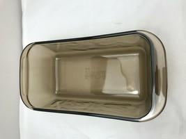 Corning Pyrex Amber Loaf Pan 213 Baking Dish 1.5 Qt Bread Glass - $9.46