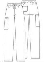 Adar 507 Drawstring Waist Uniform Flare Leg Scrub Pants Pewter XS Womens New image 2