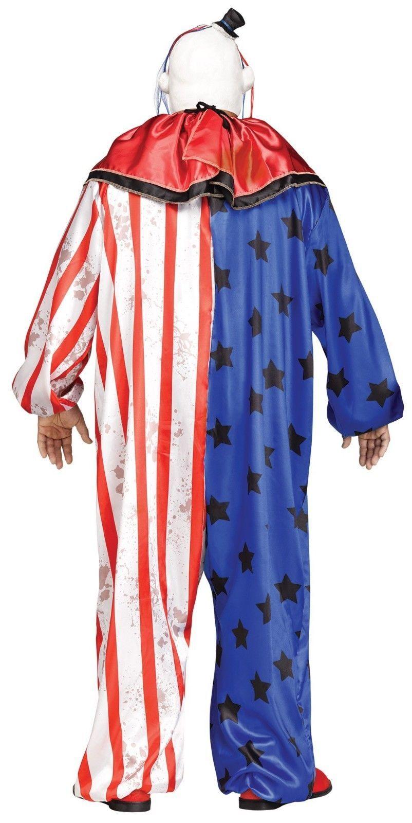Fun World Böser Clown Maske Erwachsene Herren Halloween Kostüm Übergröße 132015