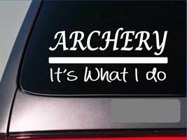 Archery sticker decal E262 bow arrow broadhead target bullseye deer stand 2a - $3.56