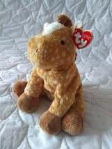"TY Pluffies brown white spotted LASSO the HORSE PONY FOAL Beanbag Plush 9"" 2003 - $11.02"