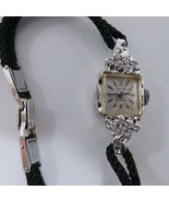 LADIES WHITE GOLD & DIAMOND SWISS CROTON NIVADA GRENCHEN - $494.01
