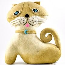 Silk Road Bazaar Handmade Felted Friends Clever Cat Kitten Stuffed Toy Animal image 1
