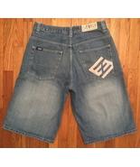 Enyce Clothing Mens Hip Hop Urban Medium Blue Faded Baggy Denim Jean Sho... - $24.99