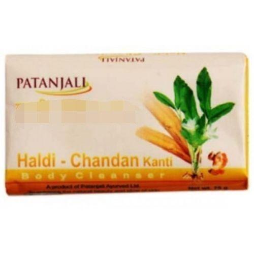 PATANJALI NATURAL PERSONAL BODY CARE HALDI CHANDAN SOAP 75 GM  image 4