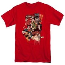 Justice League DC Heroes Villians T-shirt comic book superfriends red DCO566 image 2