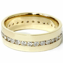 1 1/4ct Mens Diamond Channel Set Eternity Ring 14K Yellow Gold - $1,599.00