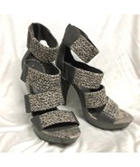 BCBG MAXAZRIA SHOES  Pumps Sandals Gray heel straps snake 9/39 - $35.53