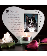 Cat Photo T Light Pet Memorial plaque Personalised with Pets Name My Cat #1 - $33.65