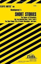 CliffsNotes Hemingway's Short Stories [Paperback] Roberts, James L.