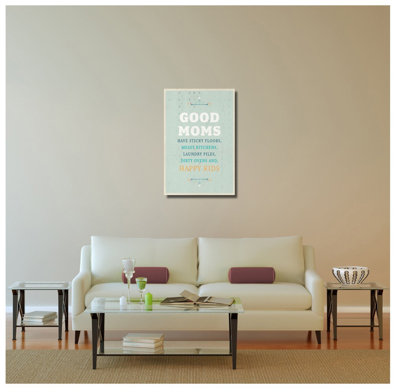 "Pingo World 0108QCO1TCY ""Good Moms, Happy Kids"" Inspirational Motivational Happi"