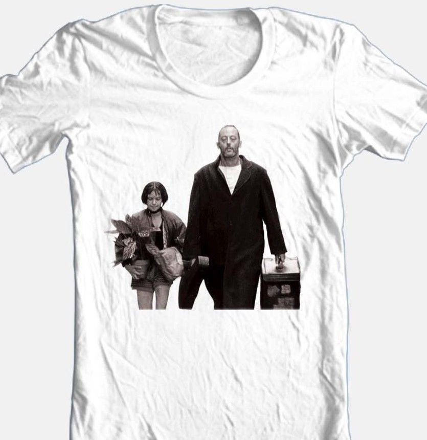 The professional t shirt leon 90 s classic white cotton graphic tee for sale online
