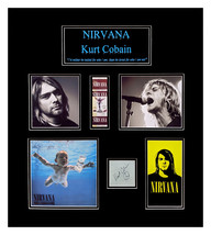 Kurt Cobain Original Autograph Double Matted and Framed Ready to Hang - $4,800.00