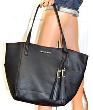 MICHAEL KORS Handbag Black Leather Tote 2 in 1 Ashbury Grab Bag Purse & ... - $222.74