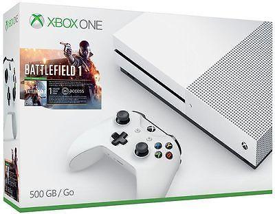 Xbox one S 500GB console Battlefield 1 bundle - $339.99