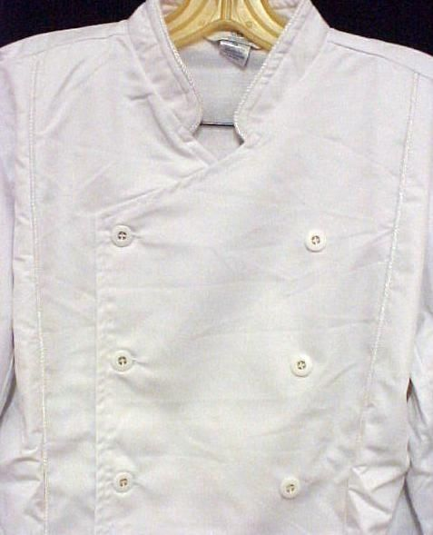 White Chef Coat CIA Culinary Institute America 5XL New Style 9601 Button Front