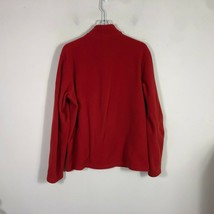 Eddie Bauer First Ascent Fleece Jacket Large Red Long Sleeve Pull Over 1/2 Zip image 2
