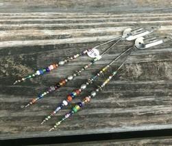 Boho Multicolor Handmade Beaded Barrette Hair Clips (Set of 2) - New Wit... - $10.00