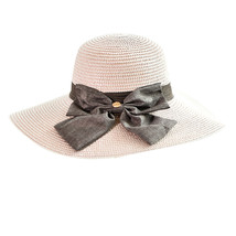 CHANSGEND Ladies Women Casual Solid Wide Brimmed Hats Floppy Foldable Straw Beac image 3