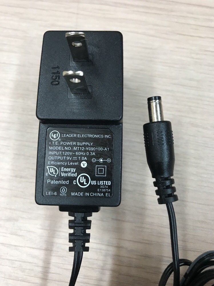 MT12-Y090100-A1 AC Power Supply Adapter Charger Output: 9V DC 1A              M4