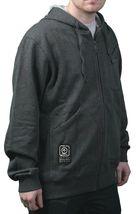LRG Mens Clean Black Heather The Target Interval Zip Up Hoody Sweatshirts XL NWT image 3