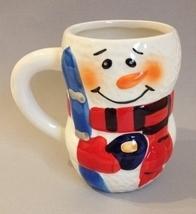 Cup Snowman Ceramic Collectible Christmas Winter Coffee Mug Bay Island W... - $20.00