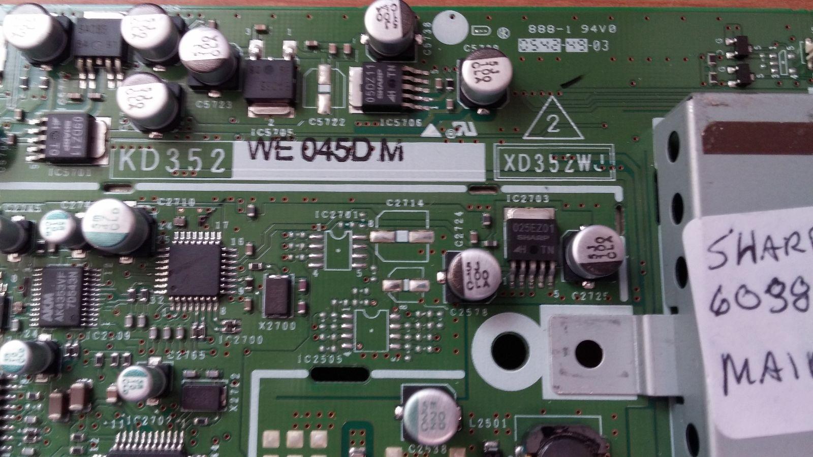 Sharp DUNTKD352WE05 (KD352, XD352WJ) Main Board