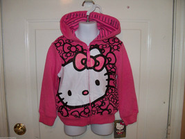 Hello Kitty Pink Zip Up Hoodie Size XS Girl's NEW LAST ONE - $21.84