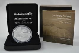 NEW ZEALAND 2008 ENDANGERED  HAMILTON'S FROG, 1 OZ SILVER PROOF $5 DOLLA... - $128.69