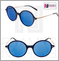 Oliver Peoples Corby OV5347SU Navy Blue Mirrored Round Sunglasses 5347 Unisex - $202.95