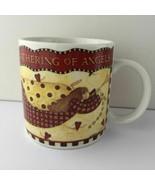 Gathering of Angels Debbie Mumm Sakura Stoneware Coffee Mug Tea Cup - $14.99