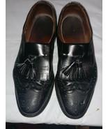 Allen Edmonds Manchester Black Wingtip Tassel Slip-On Loafer Shoes Sz9.5 - $27.90