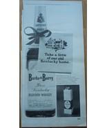 Burke & Barry Rare Kentucky Blended Whiskey Magazine Advertisement 1968 - $3.99