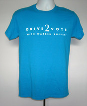 Mens Drive 2 Vote with Warren Buffett Volunteer t shirt small Ask Me Any... - $28.66