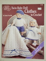 """Twin Baby Doll Clothes To Crochet For 15"""" Doll American School Of Needlework - $8.90"""
