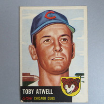 Toby Atwell Baseball Card, Vintage 1953 Topps #23, VG+, Chicago Cubs - $15.00