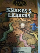 Snakes and Ladders Serpents et Echelles board game New Sealed - $7.92