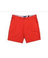 Tommy Hilfiger Men's Academy Flat Front Solid Red Chino Shorts - $34.64