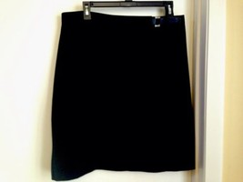 New York & Co Black Lined Straight Skirt with Buckle Closure 14 - $14.50
