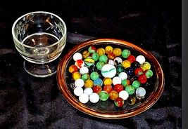 Marbles in a Custard Dish and 1 Shooter AA18 - 1174-D   50 Vintage image 3