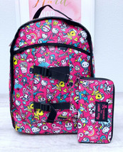 TOKIDOKI x HELLO KITTY Pink Nylon AOP Character Backpack Bookbag Bag - $94.05